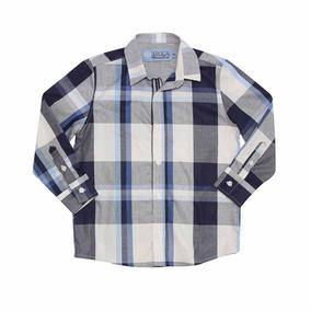 Camisa Xadrez Blue Infantil