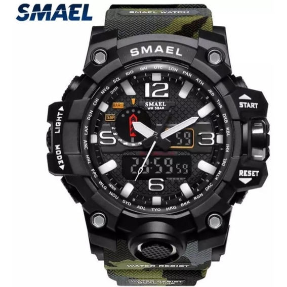 Relógio G-shock Smael,camuflado Tático Militar Prova D