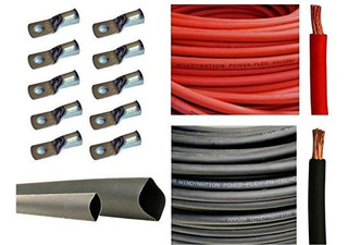 Rojo Y Negro - Cable Flexible De Cobre Puro 10 Conectores De