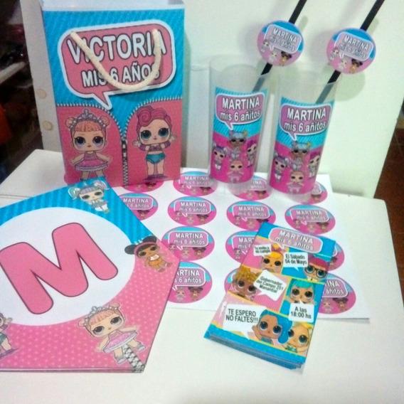 Promo Cotillon Muñecas Lol Personalizado Para 30 Niños