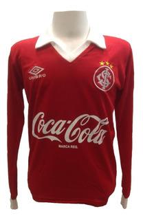 Camisa Retrô Internacional 1992 - Vermelha Mangas Longas
