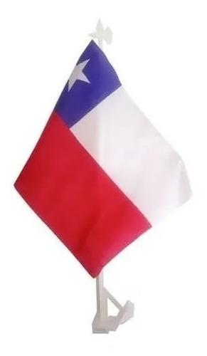 Imagen 1 de 3 de Bandera De Chile  Auto  Fiestas Patrias Banderin 20 X 30