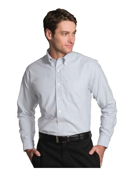 Camisa Oxford Mil Rayas Manga Larga Yazbek C0603 Caballero