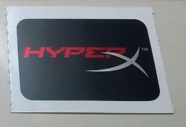 Adesivos Kingston Hyperx Kit Com 3 Unidades