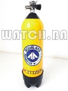 Estojo Caixa Cilindro Relógio Citizen Aqualand - Raridade!!!