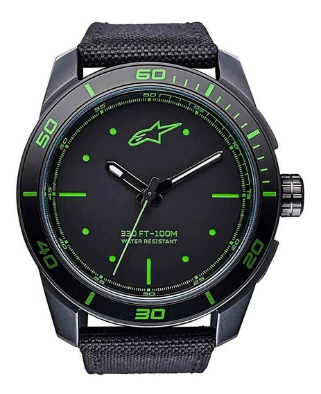 Relogio Alpinestars Tech Watch Pulseira Nylon Miyota Verde