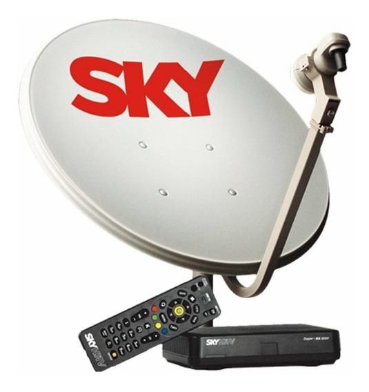 Receptor Sky Pre Pago Hd + Antena Sky De 60cm Completa.
