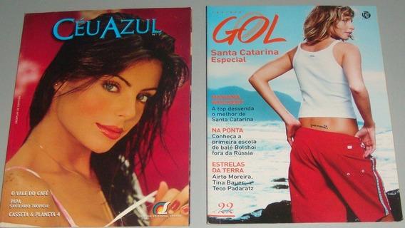 Avião - Lote 10 Revistas De Bordo Antigas (?) Gol Ladeco ...