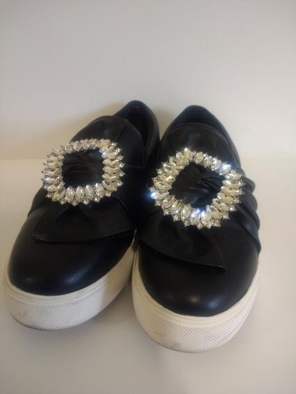 Zapato Mujer Pancha Negro Aldo Strass 36
