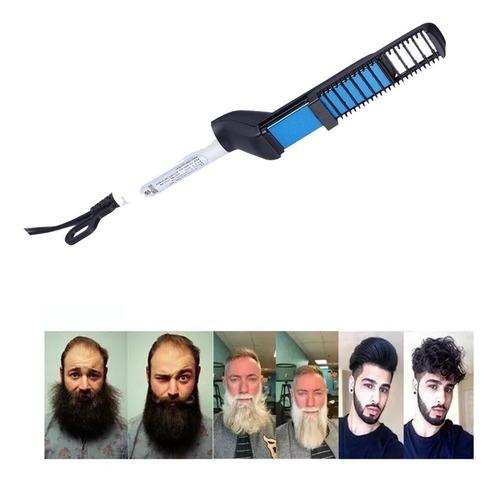 Pente Elétrico Chapinha Para Barba Modelador Alisador De Barba E Cabelo