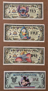 Disney Dollars (4diferentes)
