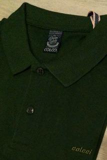 Camisa Polo Colcci Brasil Lisa (escolha Cores) 100% Original