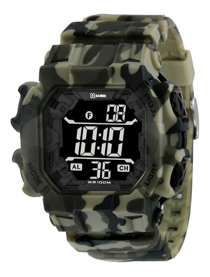Relógio Pulso X Games Digital Camuflado Verde - Xgppd142
