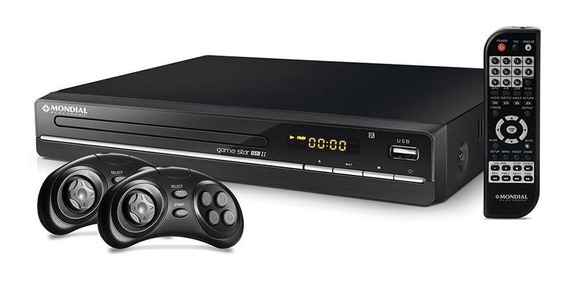 Dvd Game Star Mondial 6010-01 Com Usb Ii Com Karaokê Funç¿