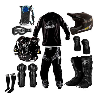 Kit Equipamento Motocross Trilha Pro Tork + Mochila Hidrata