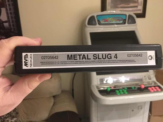 Metal Slug 4 Neo Geo Mvs Original
