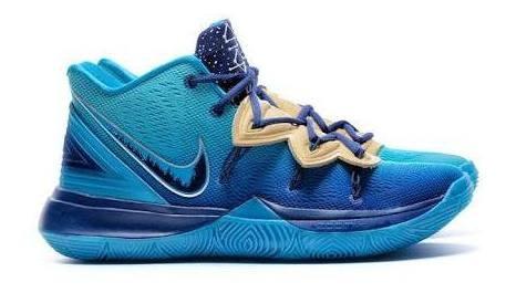 Tênis Nike Kyrie 5 Orion S Belt Azul Leia A Descriçao