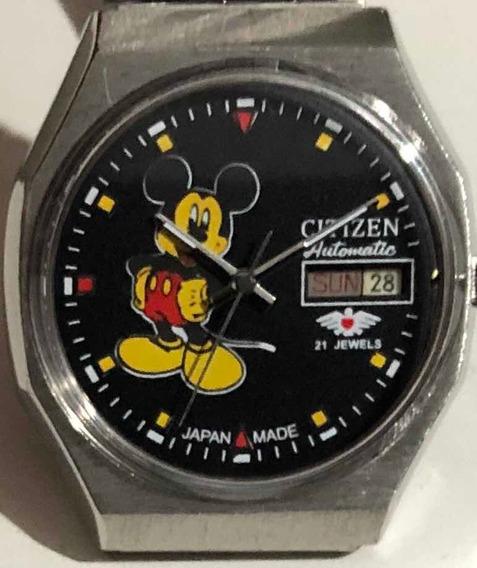 Relógio Citizen Antigo Mickey Mouse Coleção