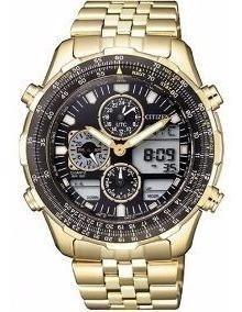 Promoção Relógio Citizen Dourado Navihalwk Tz10173u + Frete