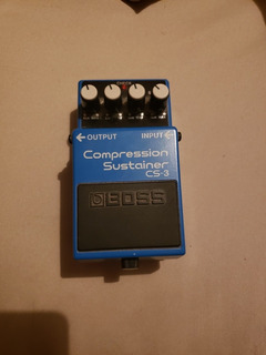 Pedal Guitarra Boss Compression Sustainer Cs-3