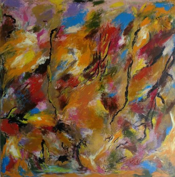 Tela / Pintura Original Obra De Arte Abstrata Nº 0300 Traudi