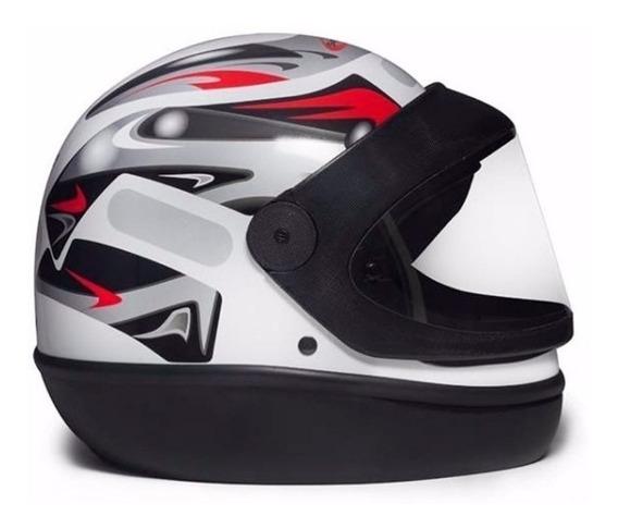 Capacete Para Moto Integral San Marino Grafic Branco Tam. 60