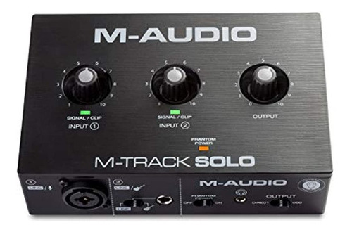 Imagen 1 de 4 de M-audio M-track Solo - Interfaz De Audio Usb Para Grabacion