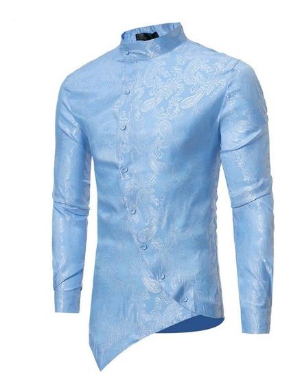 Camisa Hombre Mandarin