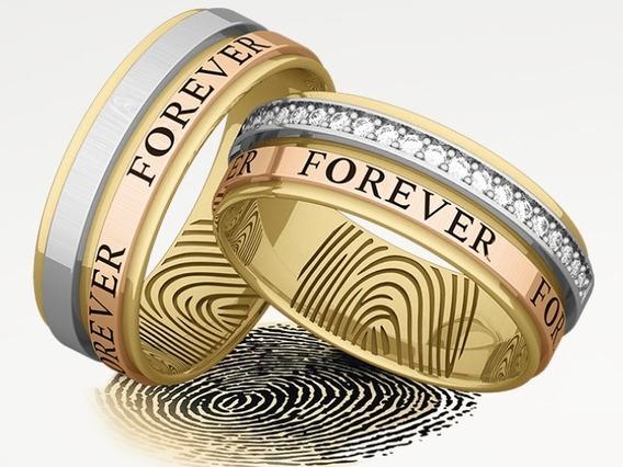 .aliança Casamento Em 3 Ouro, Branco,amarelo E Rosê.