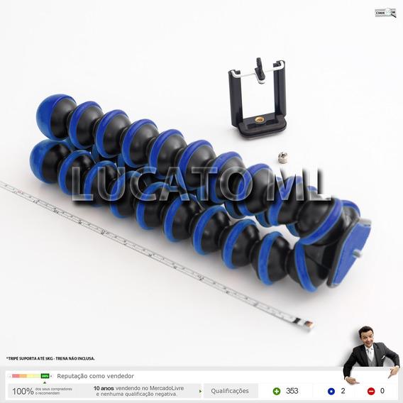 Tripé Portátil Flexível P/ Dslr Até 5kg Octopus Xl Azul | Ap