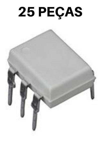 25x Ci Optoacoplador Moc3023 Dip-6 Branco (25 Peças)