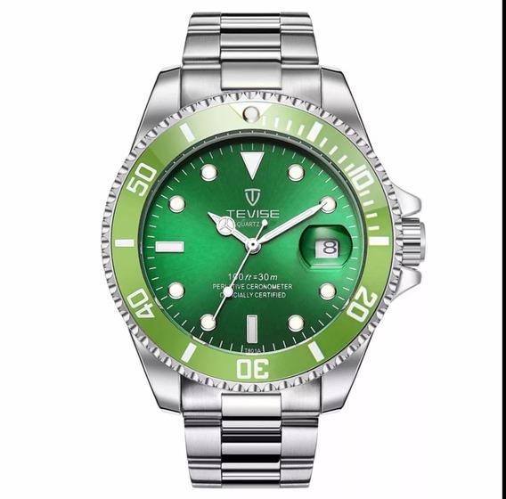 Relógio Quartzo Tevise Masculino Resistente Água
