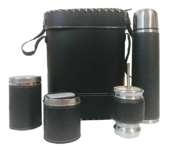 Set Matero Kit Completo Equipo Mate Porta Termo Bombilla