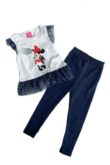 Conjunto Algodon Malla Con Blusa Estampada Disney Minnie