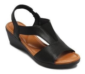 Sandália Usaflex Conforto Anabella Couro Z8105