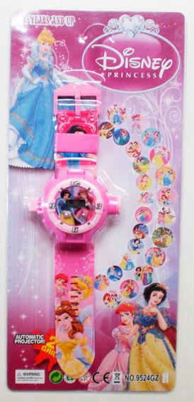 Relógio Projetor Infantil Vingadores Princesas Minney Ben 10