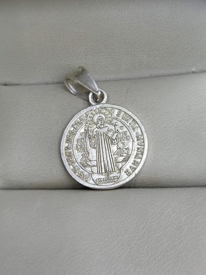 Medalla De Plata San Benito 925 Mex ..