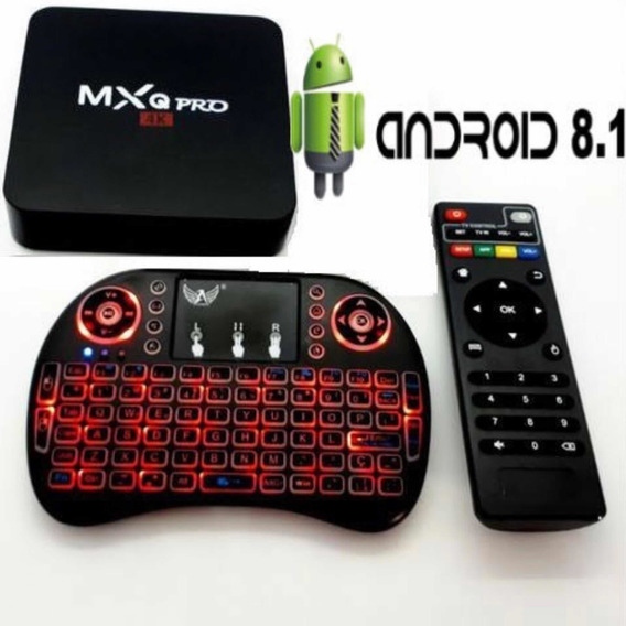 Mini Pc Android 8.1 Tv Com Teclado Sem Fio 16gb