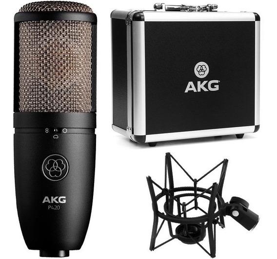 Microfone Condensador Akg P420 P 420 Original Estúdio