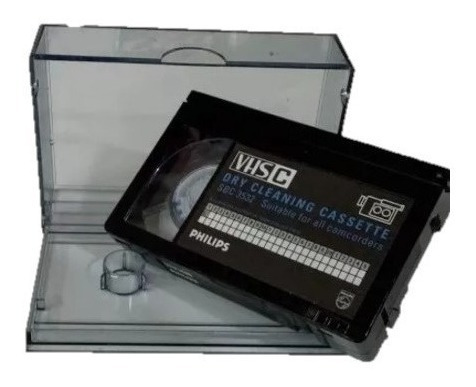 Fita Limpeza Filmadora Cab Cleaning Philips Vhs-c Sbc 3532