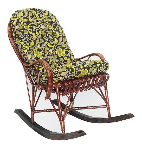 Cadeira De Balanço Papai Em Vime Com Almofada Ideal Para Relaxar E Descançar Muito Confortável E Espaçosa