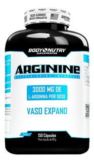 Arginine - 150 Cápsulas - Body Nutry