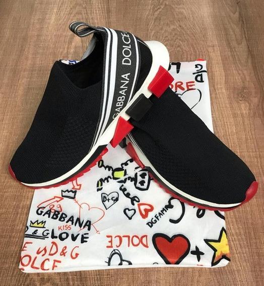 Tênis Dolce & Gabbana Preto Frete Grátis Envio Imediato
