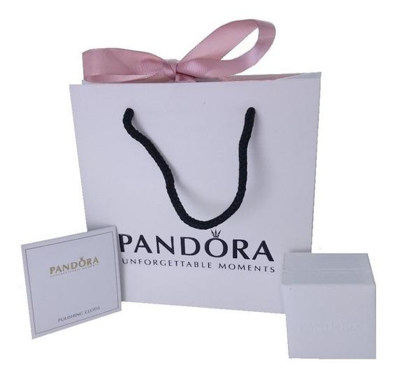 Pandora Bolsa De Regalo + Caja Charm + Paño Limpiador C/logo