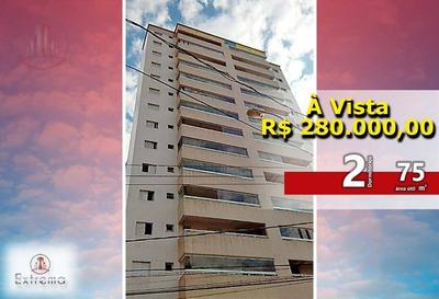 Excelente Apartamento 2 Dormitórios (1 Suíte), 75 M² Por R$ 280.000,00 - Campo Da Aviação - Praia Grande/sp - Ap1057