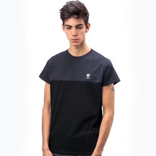 Remera Vicus Pocket Negro Blanco
