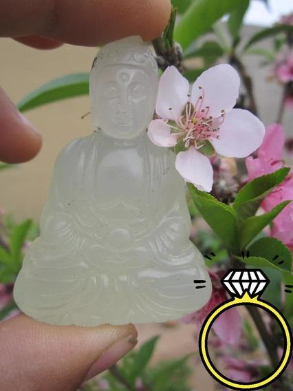 Buda Jade Verde Manzana Claro Meditación Nirvana Cuarzo Dije