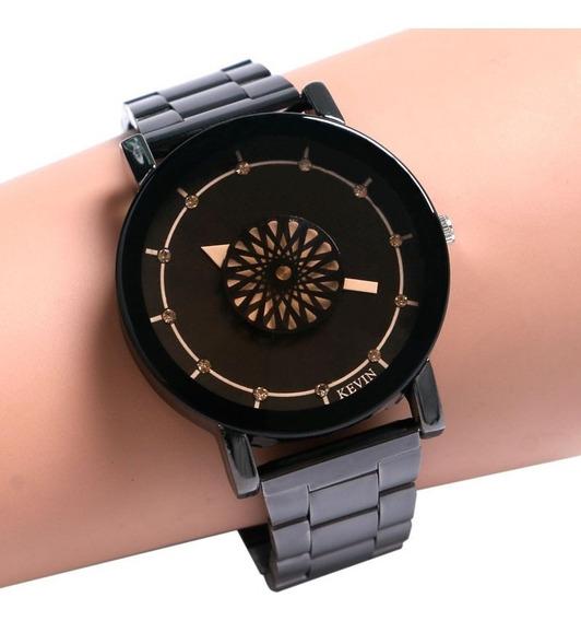 Relógios Feminino De Pulso De Luxo Inoxidável Preto