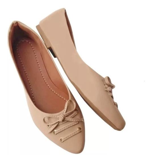 Sapatilha Sapato Feminino Bico Fino Rasteirinha Moda Feminina Casual Confortavel E Elegante