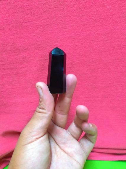 Kit 7 Pontas De Obsidiana Negra 4 A 5 Cm Obelisco Orgonite